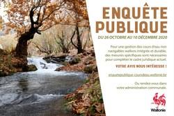 Enquête publique sur des mesures spécifiques applicables aux cours d'eau en Wallonie